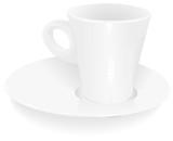 Porcelain vector cup poster