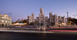 Panorama of Plaza de la Cibeles in Madrid, Spain