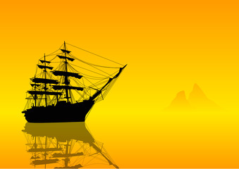 Veliero in navigazione