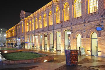 Shopping centre at night scenario