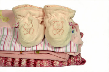 baby sleeper booties on baby clothes