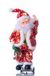Isolated toy of Santa Claus