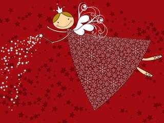 snowflake christmas fairy