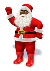 Afro black Santa Claus with beard