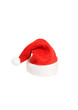 Santa small red hat isolated on white background