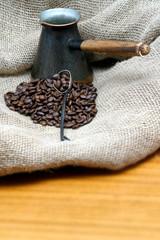black coffee on table