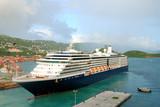 Cruise liner visiting St Thomas poster
