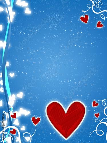amore cuore. Cuore e amore blu