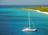 Catamarn visiting Grand Turk