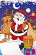 Постер, плакат: Santa and reno
