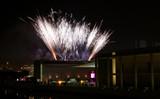 fireworks celebrating the portuguese presidency of the eu poster