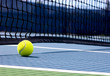 canvas print picture - Tennis ball on the court