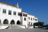 entrance view of the national palace in sintra poster