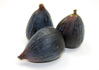 three whole organic black mission figs