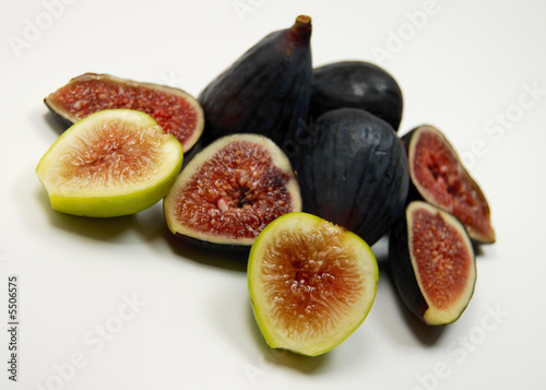 an assortment of fresh organic figs.
