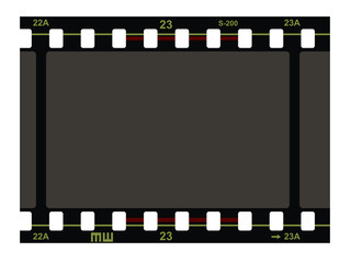 Film Strip Pattern on white background