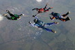 Four Skydivers