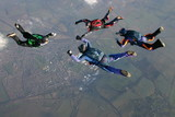Cztery Skydivers