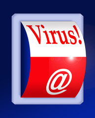 lectronic virus warning