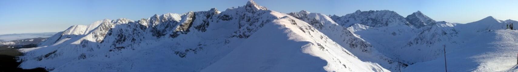 Beautiful winter high mountain landscape.