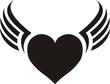 dije de corazon con alas