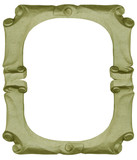 Isolated empty bronze handmade frame poster