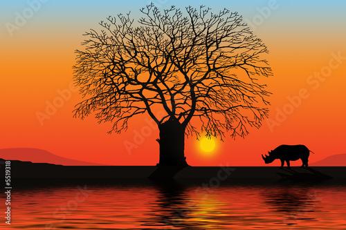 Leinwandbild Motiv Africa