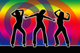 Dancing Girls Silhouette 70er