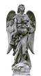 Isolated ature marble angel figurine sculpture