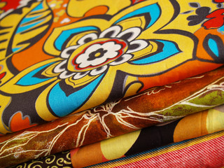 colored print textiles for sewing