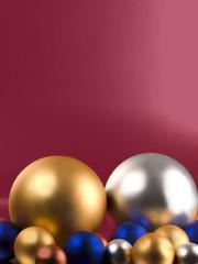 Spheres of colors.