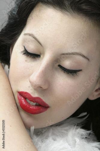 Foto Chica Con Labios Carnosos