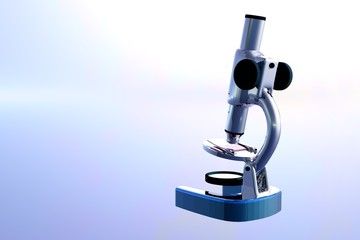 Detail of a microscope illustration