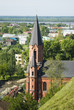 Downtown of Tobolsk in Russia with catholic temple