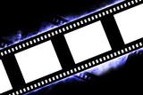 Blank negative film strip poster