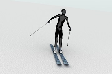 skier on snow