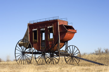 Stagecoach - ready to travel West.