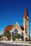 Lutheran church in Windhoek, Namibia poster