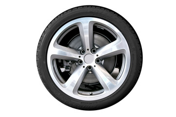 Car wheel - isolated