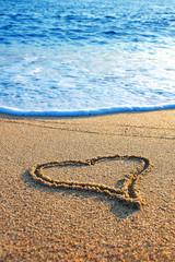 Tropical beach - Love sign