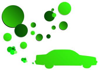 green car and vapors