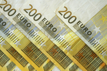 Two hundred euro notes