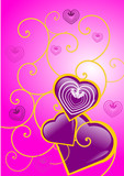 coeur rose saint valentin