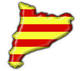catalonia button flag map shape