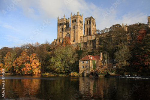 Autumn Reflections of Durham Cathedral in the River Wear