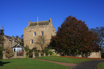 Elsdon castle sitting in the wilds of Northumberland Engalnd
