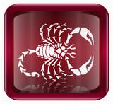 Scorpio zodiac icon, isolated on white background poster