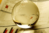 Globe on finance document