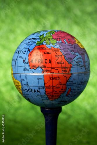 Globe on golf  T