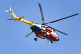 Image of a Malaysian fire and rescue helicopter. poster